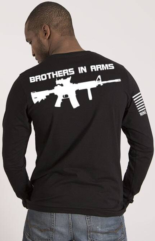 Nine Line Brothers in Arms Drop Line/Rifle Long Sleeve Shirt BIABACK-LS