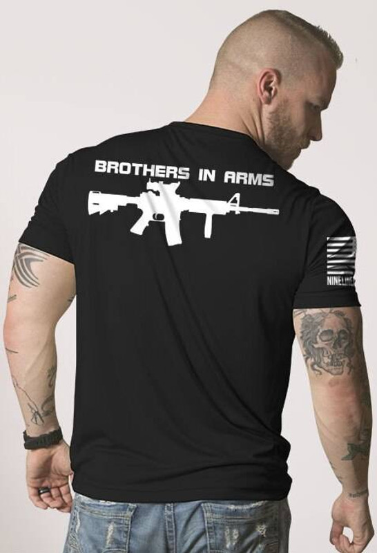 Nine Line Brothers In Arms Drop Line/Rifle Moisture Wicking T-Shirt BIABACK-MW