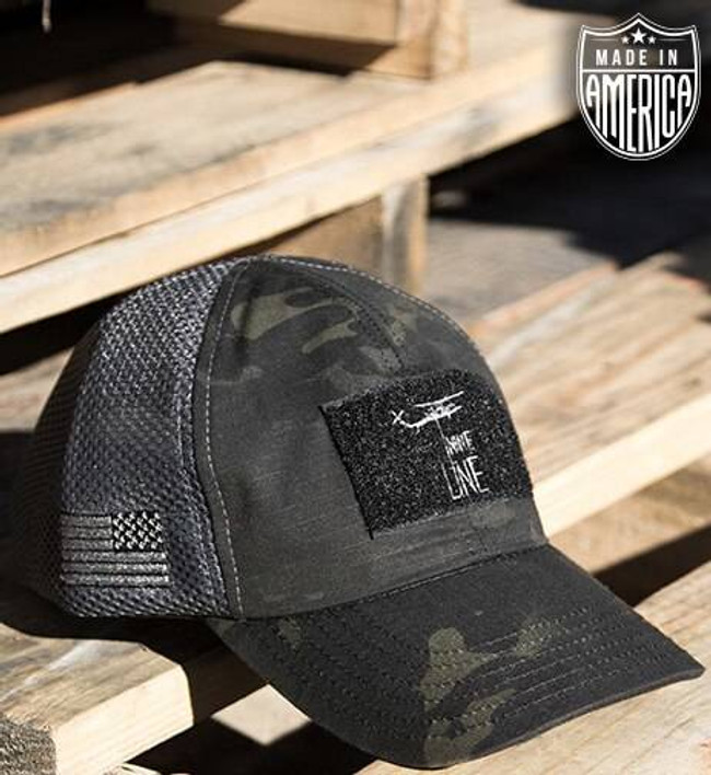 Nine Line Dark American Made Mesh Back Hat With Drop Line AMBHVDARK-GREY 190741334745