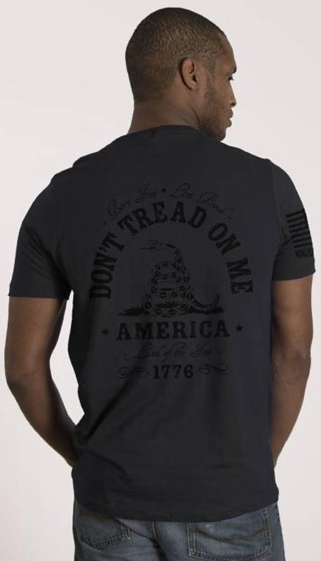 Nine Line Dont Tread on Me Dark Mens T-Shirt DTOMDARK-TS