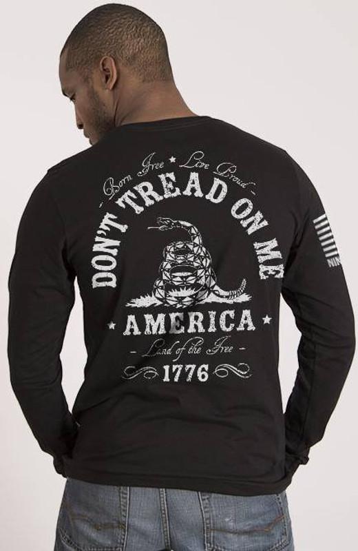 Nine Line Dont Tread on Me Long Sleeve Shirt DTOM-LS