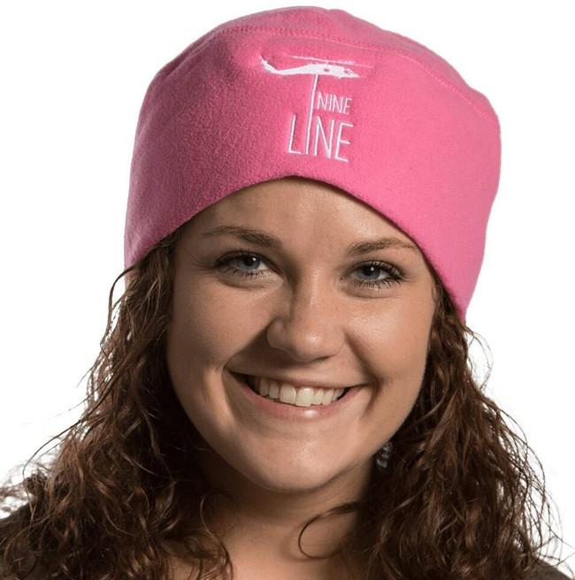 Nine Line Drop Line Womens Beanie EMB16-WBEANIE-PINK