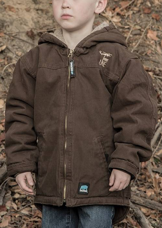 Nine Line Drop Line Youth Bark Jacket EMB5-YTHBERNE