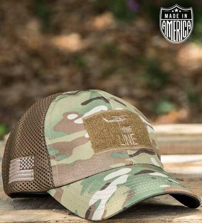 Nine Line Dropline American Made Mesh Back Hat EMB17-AMBHVMULTICAM 190741245096
