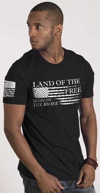 Nine Line Home of the Brave Mens T-Shirt BRAVE-TS