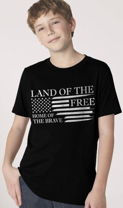 Nine Line Home of the Brave Youth T-Shirt BRAVE-YTS