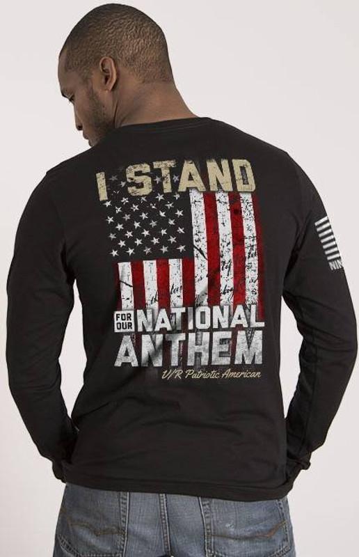 Nine Line I Stand Mens Long Sleeve Shirt STANDV2-LS