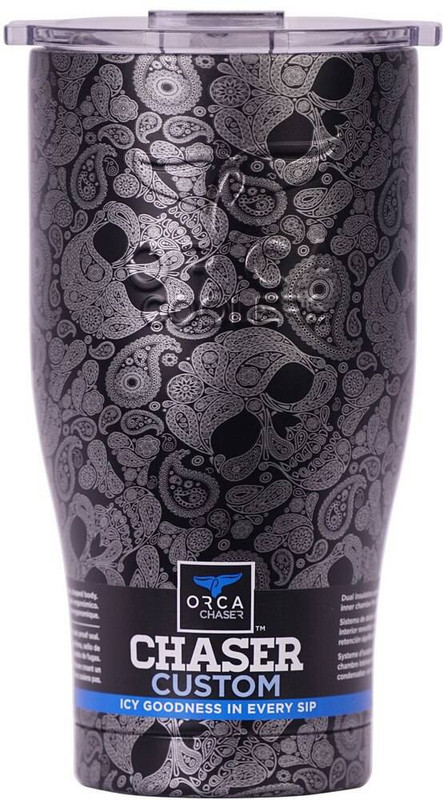 Orca Silver Paisley Skulls/Clear Chaser ORCCHA27SPSK-CL