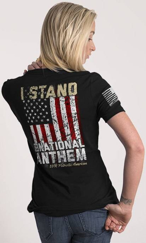 Nine Line I Stand Womens Relaxed Fit T-Shirt STANDV2-WRTS