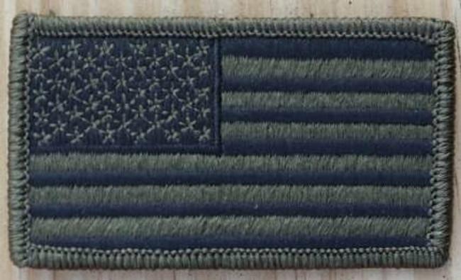 Nine Line OD Green American Flag Patch USAFLAGODPATCH 190741523354