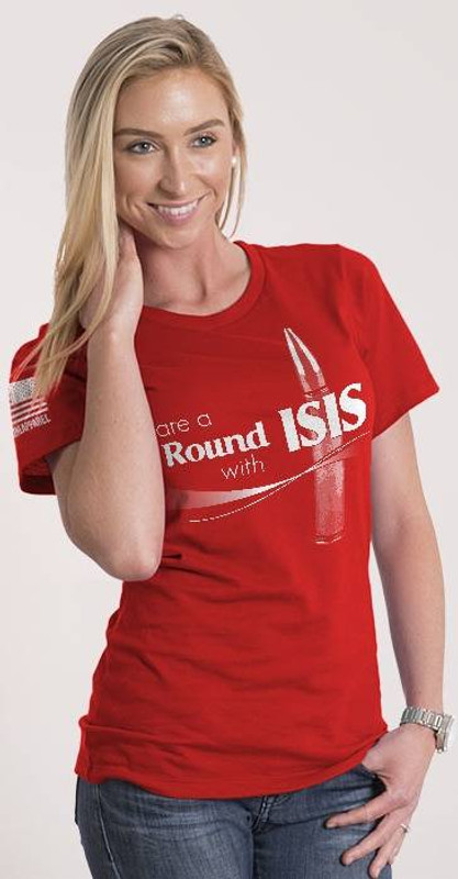 Nine Line Share A Round With ISIS Womens Junior Fit T-Shirt ISIS-WTS