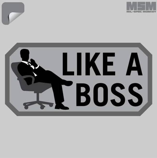 Mil-Spec Monkey Like a Boss Decal DECAL-LIKEABOSS-SWAT