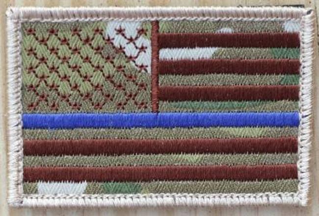 Nine Line Thin Blue Line Multicam Patch CLOTH-TBL-MULTICAM 190741429762
