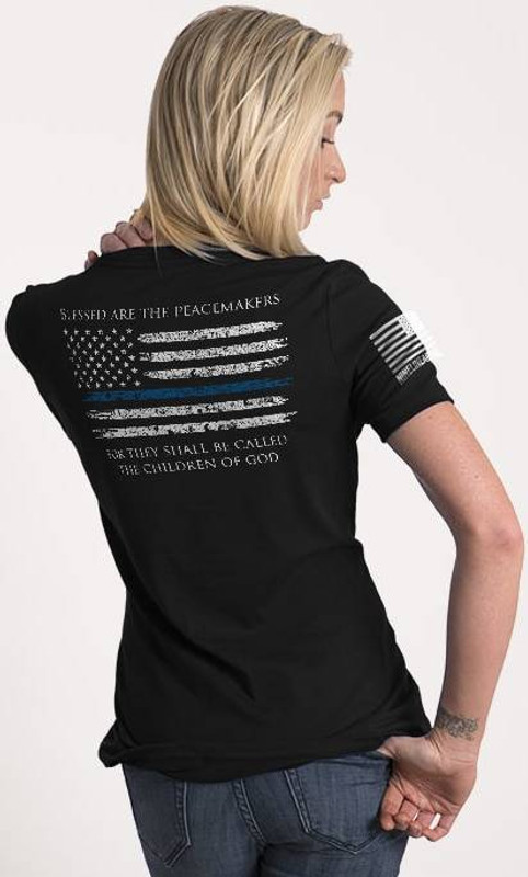 Nine Line Thin Blue Line Womens Relaxed Fit T-Shirt TBL-WRTS