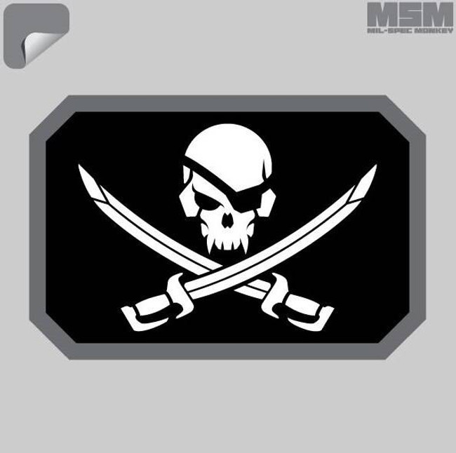 Mil-Spec Monkey Pirateskull Flag Decal PIRATESKULLFLAG-SWAT