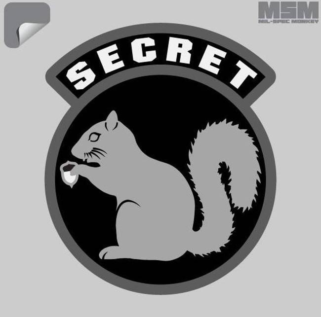 Mil-Spec Monkey Secret Squirrel Decal SECRETSQUIRREL