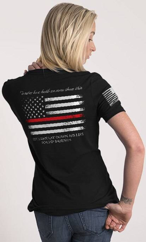 Nine Line Thin Red Line Womens Relaxed Fit T-Shirt TRL-WRTS