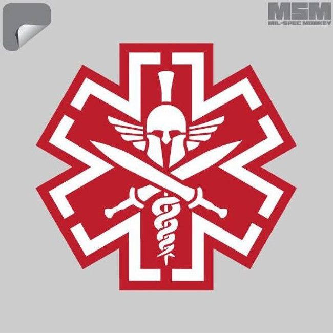 Mil-Spec Monkey TacMed Spartan Decal TACMED-SPARTAN