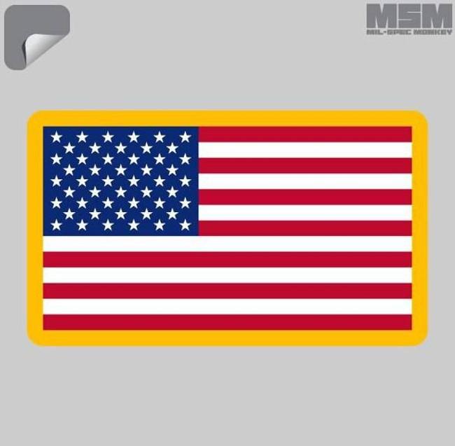 Mil-Spec Monkey US Flag Decal US-FLAG