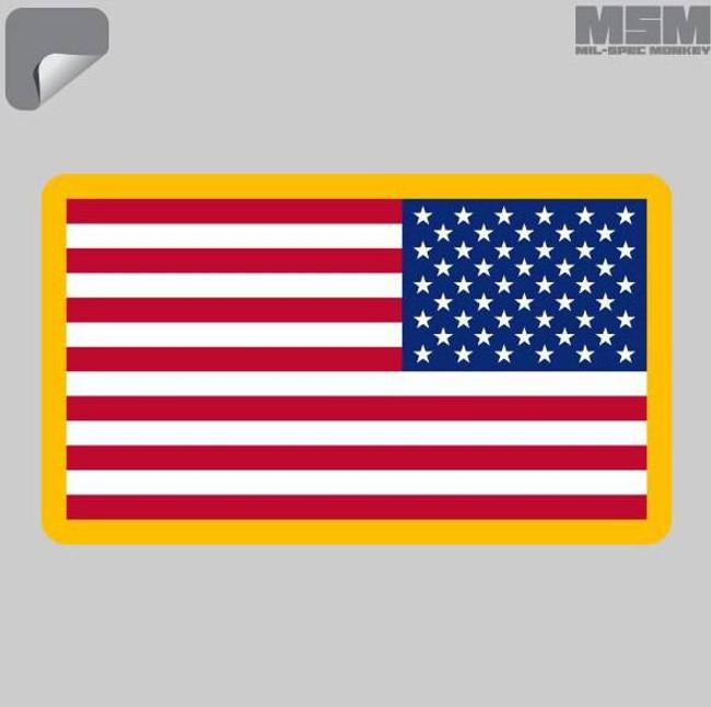 Mil-Spec Monkey US Flag REV Decal US-FLAGREV