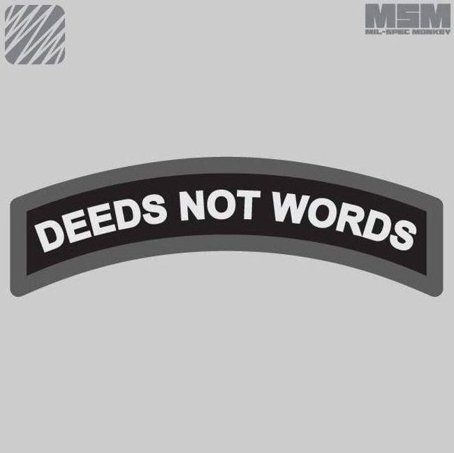 Mil-Spec Monkey Deeds Not Words Patch DEEDS