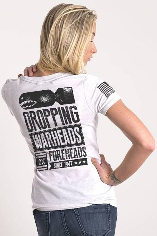 Nine Line Warheads on Foreheads Womens Relaxed Fit T-Shirt WARHEAD-WRTS