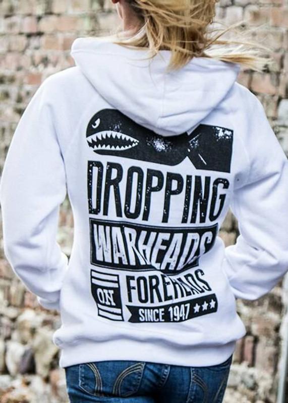Nine Line Warheads to Foreheads Womens V-Neck Hoodie WARHEAD-WVH