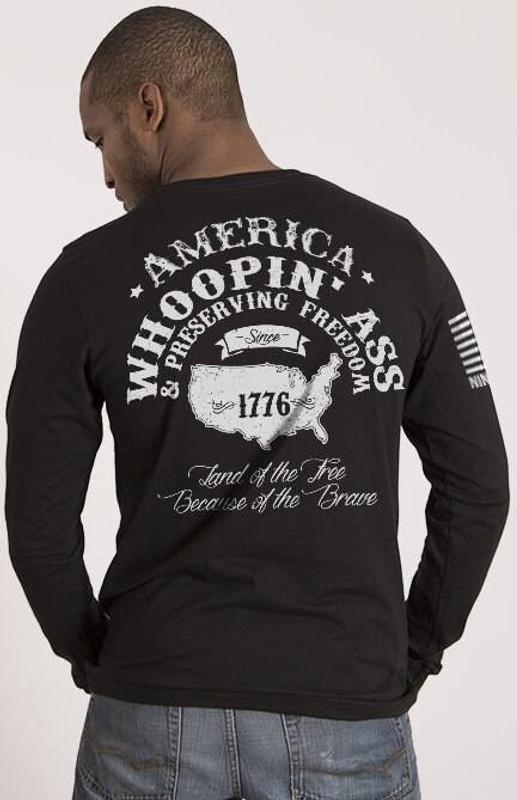 Nine Line Whoopin Ass Mens Long Sleeve Shirt WOOP-LS