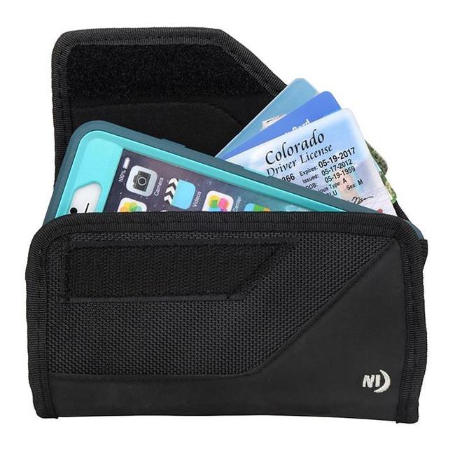 Nite Ize Clip Case Sideways XL Black Universal Rugged Holster with phone