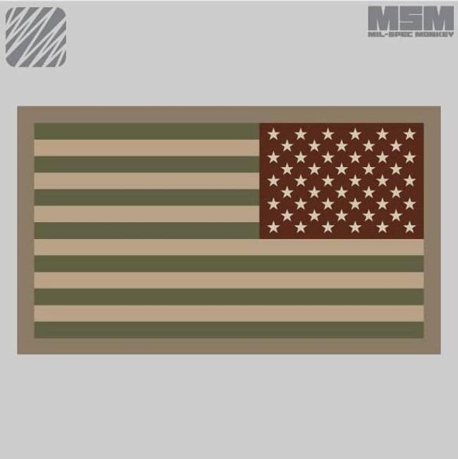 Mil-Spec Monkey American Flag Patch Reversed AMFLAG-REVERSED