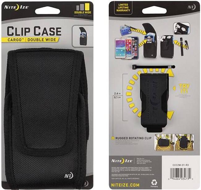 Nite Ize Clip Case Cargo Univ Rugged Double Wide Ho CCC2W-01-R3-NITE 094664034730