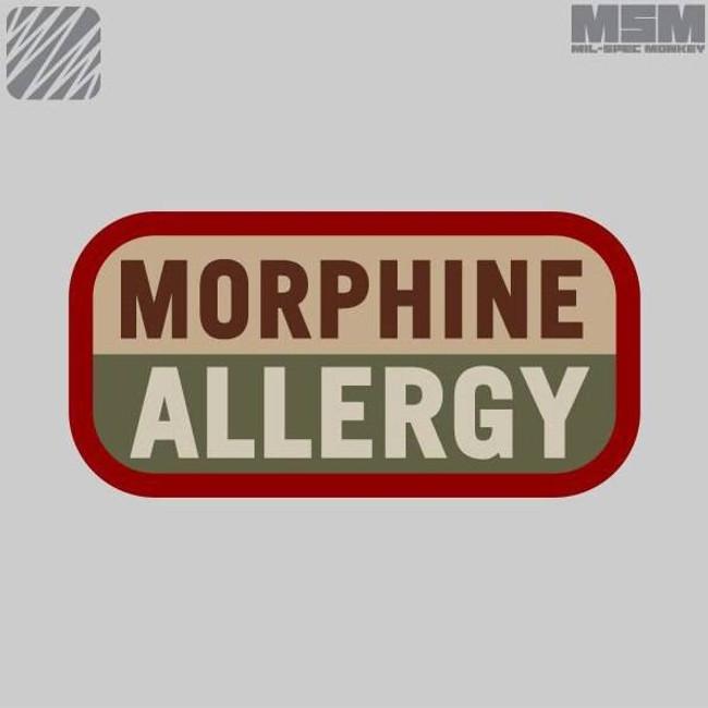 Mil-Spec Monkey Morphine Allergy Patch MORPHINEALLERGY