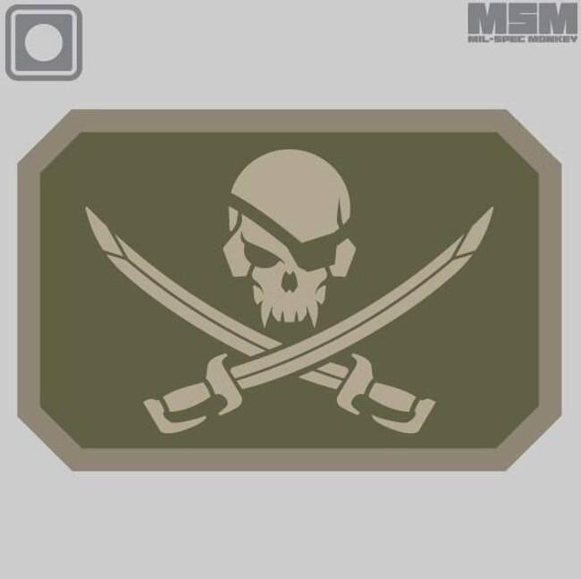 Mil-Spec Monkey Pirate Skull PVC Patch PIRATESKULL-PVC