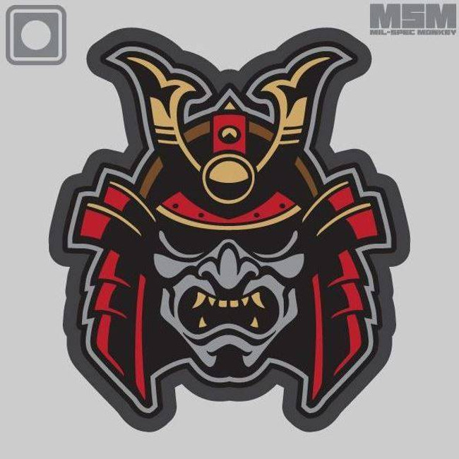 Mil-Spec Monkey Samurai Head PVC Patch SAMURAIHEAD