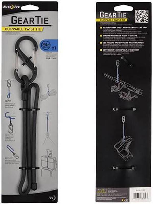 Nite Ize Gear Tie Clippable Twist Tie 24 GLC24