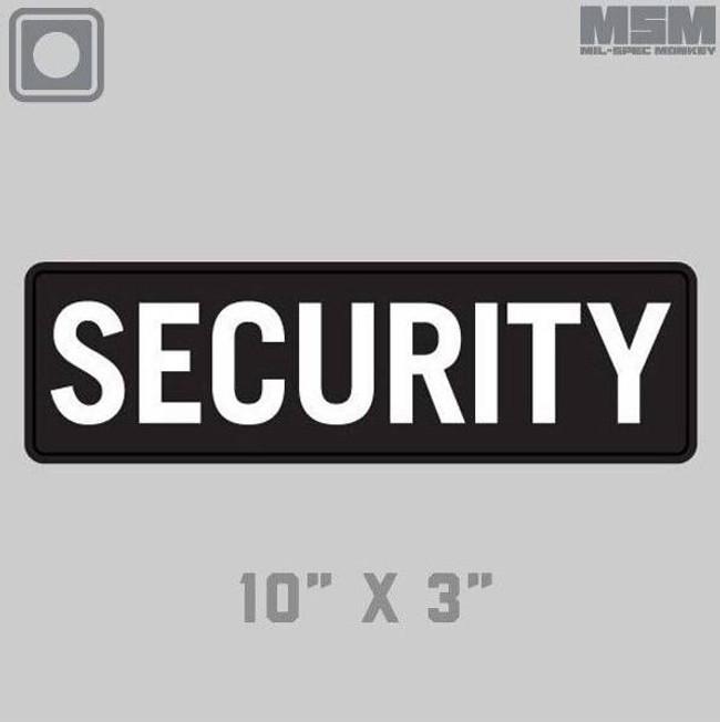 Mil-Spec Monkey Security 10 x 3 PVC Patch SECURITY-10X3