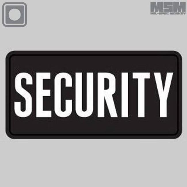 Mil-Spec Monkey Security 6 x 3 PVC Patch SECURITY-6X3