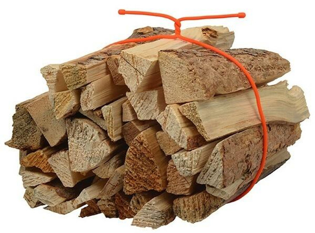 Nite Ize Gear Tie Reusable Rubber Twist Tie 64 in. - Bright Orange securing firewood