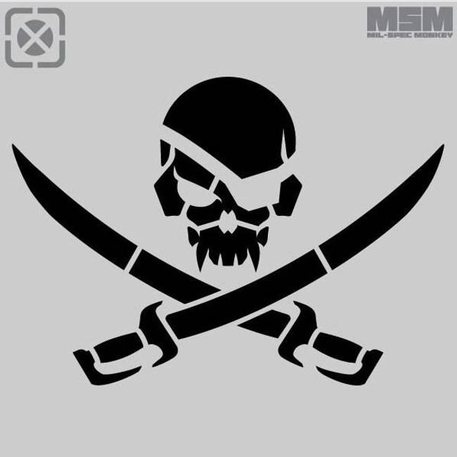Mil-Spec Monkey PirateSkull Stencil STENCIL-PIRATESKULL
