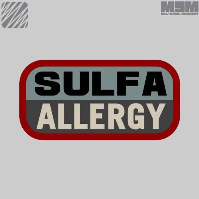 Mil-Spec Monkey Sulfa Allergy Patch SULFAALLERGY