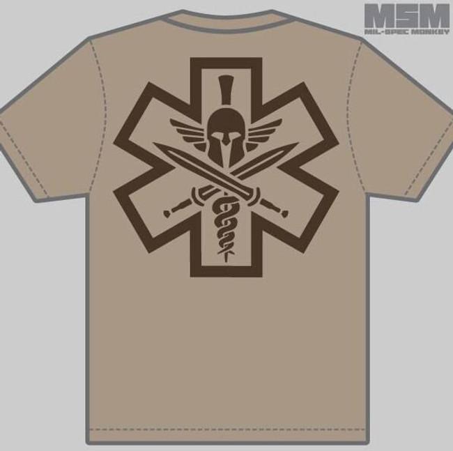 Mil-Spec Monkey TacMedic Spartan Shirt T-TACMEDICSPARTAN
