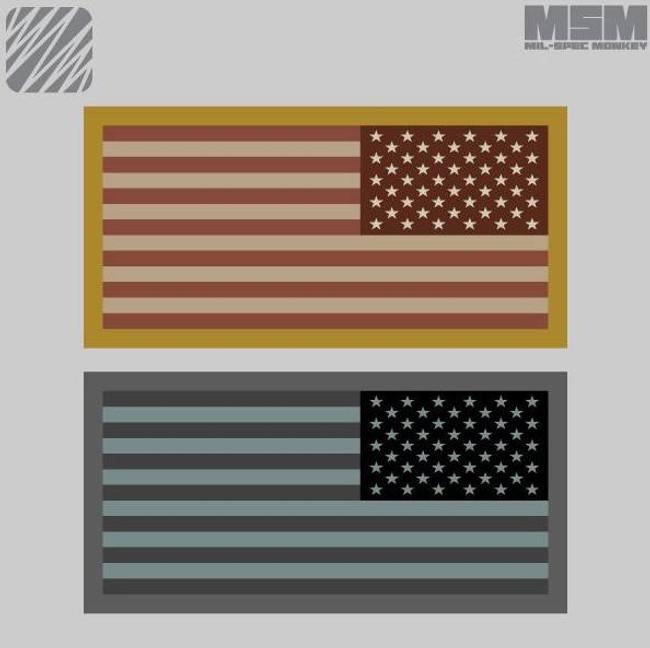 Mil-Spec Monkey US Flag Mini Patch Reversed USFLAGMINIREV