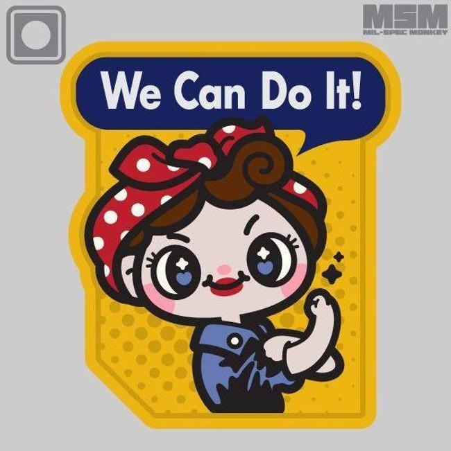 Mil-Spec Monkey We Can Do It Cute PVC Patch WCDICUTE