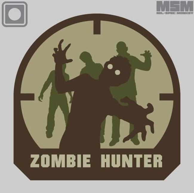 Mil-Spec Monkey Zombie Hunter PVC Patch ZOMBIEHUNTER-PVC
