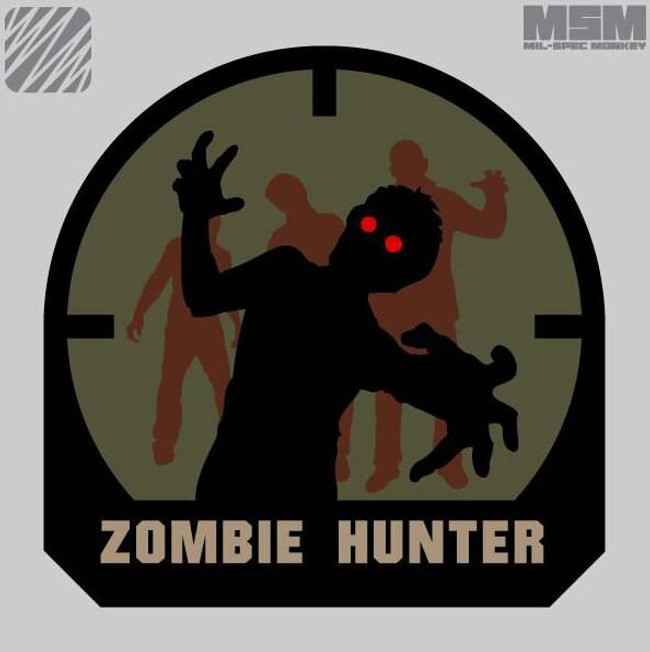 Mil-Spec Monkey Zombie Hunter Patch ZOMBIEHUNTER