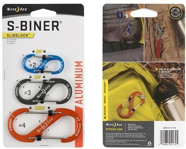 Nite Ize S-Biner SlideLock 3 Pack - Aluminum