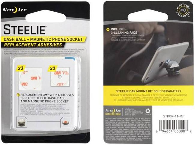 Nite Ize Steelie Dash Mount Phone Socket Replacement Adhesives STPCR-11-R7 094664030008