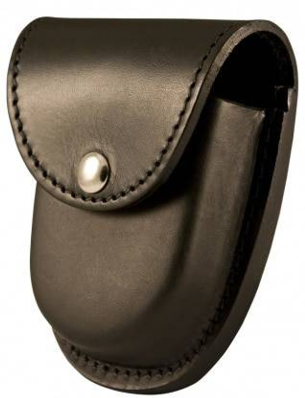 Boston Leather Rounded Bottom XL Handcuff Case with Snap Closure 5514