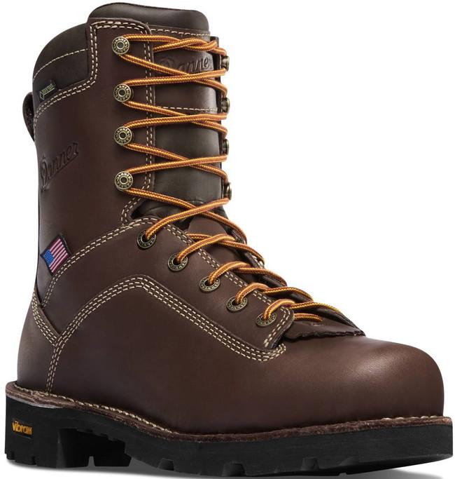 Danner Mens Quarry USA Brown Alloy Toe 8 Work Boot 17307 17307