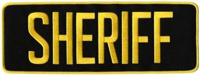 Heros Pride Sheriff Iron On Back Patch SHERIFF-BACK-PATCH - LA Police Gear